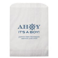 AHOY It's A Boy! Personalized Baby Shower Candy Bag