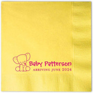 Baby Elephant Baby Shower Personalized Napkins (Pack of 100)