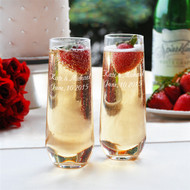 Stemless Champagne Toasting Flute Set