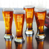 Cold Beer Here Pilsners (Set of 4)