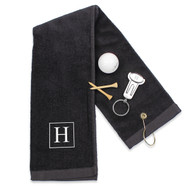 Personalized 2-Piece Golf Set (Towel and Key Ring Tool)