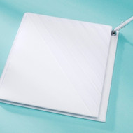 Pleated Design Guest Book with Attached Pen