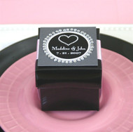 Black Favor Boxes with Lids (Set of 12)