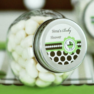 Green Baby Personalized Candy Jars