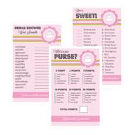 Pink Cake Bridal Shower Games (Set of 10)