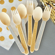 Glitter Forks or Spoons (Set of 24)