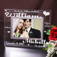 Mr. and Mrs. Personalized Glass Frame GFYN-G98091