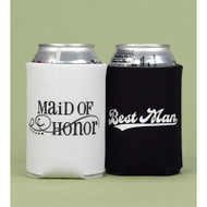 Maid of Honor and Best Man Can Cozy Set