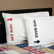 My Side / Your Side Pillowcase Set