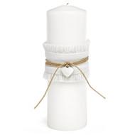 Rustic Romance Burlap Unity Candle
