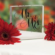 """Mr. & Mrs."" Elegant Cake Top"