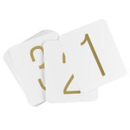 Rounded Square Gold Foil Table Numbers