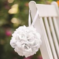 White Rose Kissing Ball (Pomander)