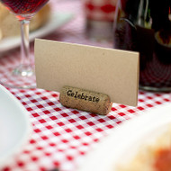 """Celebrate"" Cork Place Card Holders (Set of 6)"