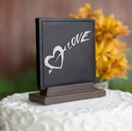 Love Chalk Cake Topper