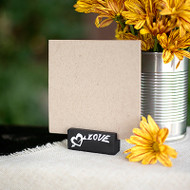 """Love"" Chalkboard Themed Place Card Holders (Set of 6)"