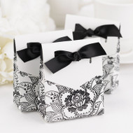 Floral White Favor Box Kit (Pack of 25)