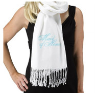 Maid of Honor White Pashmina