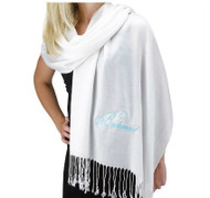 Bridesmaid White Pashmina