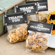 Chalkboard Style Treat Topper Cards with Clear Bags (Set of 25)