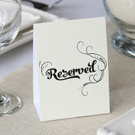 Ivory Shimmer Reserved Table Tent Cards (Set of 10)