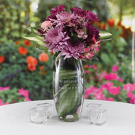 Personalized Forever Present in Our Hearts Memorial Elite Vase