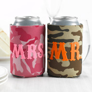Mr. and Mrs. Camo Can Cozy Set