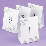 Grey Flourish Table Number Cards