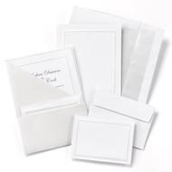 Silver Shimmer Folder Invitation Kit
