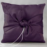 Love Knot Ring Pillow in Eggplant Purple