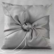 Love Knot Ring Pillow in Platinum