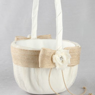 Miranda Rustic Flower Girl Basket