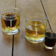 Lowball Shot Set with Two Lowball Glasses and Two Shot Glasses
