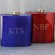 Personalized Metallic Flask