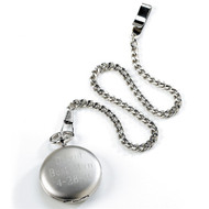 Personalized Silver Brushed Pocket Watch