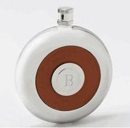 Oxford Round Leather Flask with Shot