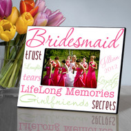 Personalized Pleasantly Pink Bridesmaid Picture Frame