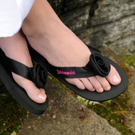 Personalized Black Flip Flop