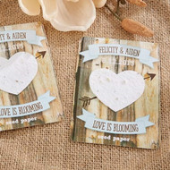 """Rustic Hearts"" Personalized Heart Seed Paper Cards (Set of 12)"