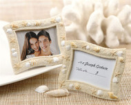 """""""Seaside"""" Sand and Shell Placecard Holder"""
