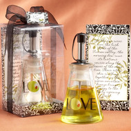 """Olive You!"" Glass LOVE Oil Bottle"