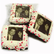 White Chocolate Dipped Picture Brownies