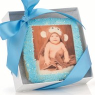 Baby Boy Picture Cookie with Favor Box
