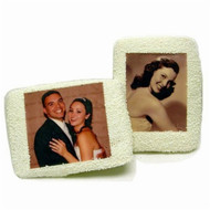 White Chocolate Rectangular Picture Sugar Cookies