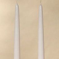 Plain Tapers in White or Ivory (Set of 2)