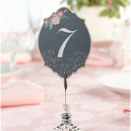Chalkboard Style Floral Table Number Cards (1-24)