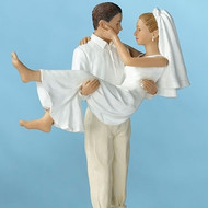 Groom Carrying Bride on Beach Topper