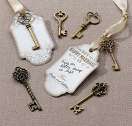 "DIY ""Key to a Happy Marriage"" Bronze Key Tag Guest Signing Kit {Set of 24}"