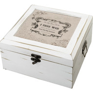 True Love Antique White Well Wishes Card Box
