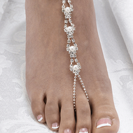 Pearl and Rhinestone Beaded Foot Jewelry Set